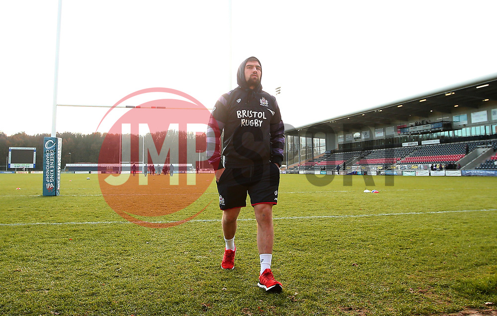 Jordan Williams of Bristol Rugby arrives at Castle Park, for the fixture against Doncaster Knights - Mandatory by-line: Robbie Stephenson/JMP - 02/12/2017 - RUGBY - Castle Park - Doncaster, England - Doncaster Knights v Bristol Rugby - Greene King IPA Championship