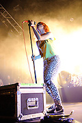 performs at The Bamboozle music festival, East Rutherford NJ, May 1, 2010.