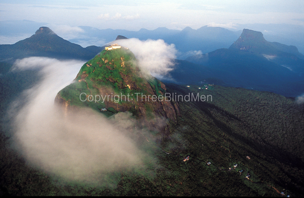 Sri Lanka. Adams Peak, known locally as Sri Pada, is the mountain sacred to Buddhist's and site of an annual pilgrimage. The Peak has a rock which they say has an imprint of the of the Buddha's foot.