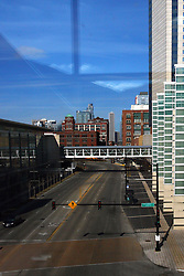 08 February 2012:  Chicago Skyline from McCormick Place looking north up MLK Drive.