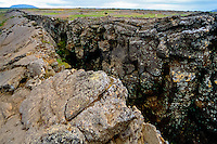 Iceland. Rock formations. Mývatn is situated in an area of active volcanism.