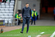 Sunderland AFC manager, Jack Ross during the EFL Sky Bet League 1 match between Sunderland AFC and Luton Town at the Stadium Of Light, Sunderland, England on 12 January 2019.