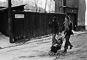 Yttersta tvärgränd på Södermalm 1977