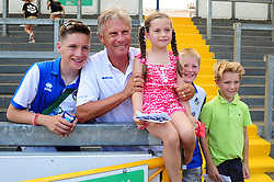 Bristol Rovers Manger, John Ward has his photograph taken with young supporters - Photo mandatory by-line: Dougie Allward/JMP - Tel: Mobile: 07966 386802 21/07/2013 - SPORT - FOOTBALL - Bristol -  Bristol Rovers Fun Day