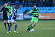 Forest Green Rovers Rob Sinclair(19) runs forward during the FA Trophy match between Macclesfield Town and Forest Green Rovers at Moss Rose, Macclesfield, United Kingdom on 4 February 2017. Photo by Shane Healey.