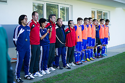 Team Andorra during football game between Slovenia and Andorra of<br /> UEFA Under19 Championship Qualifications, on October 15, 2013 in Bakovci, Slovenia. (Photo by Erik Kavas / Sportida)