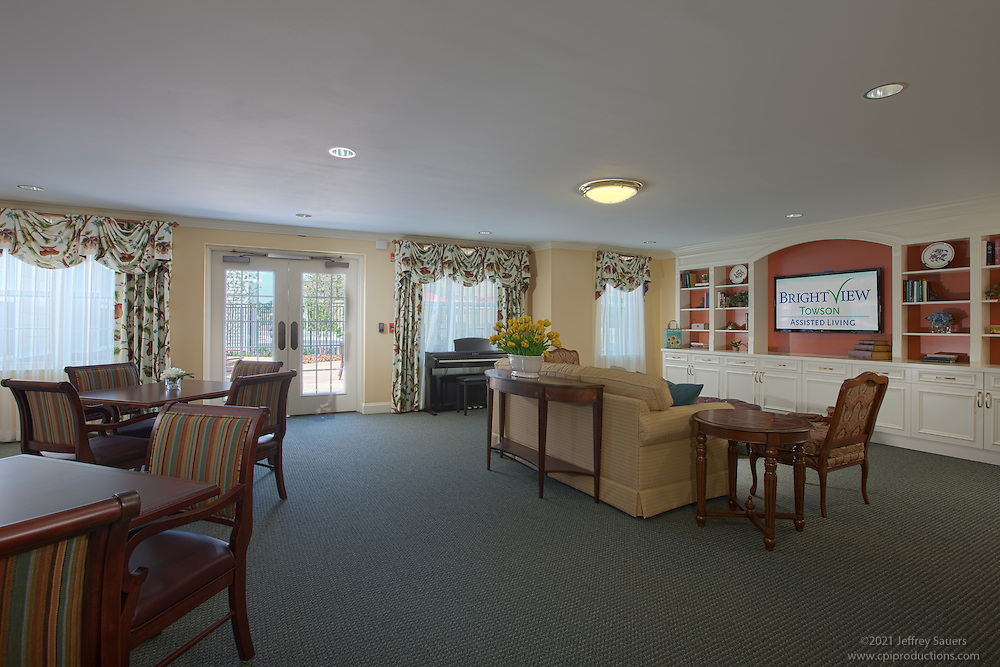 Architectural Interior image of Brightview Towson Alzheimers WIng Dining Room