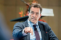 13 SEP 2018, BERLIN/GERMANY:<br /> Dr. Volker Treier, stellvertretender Hauptgeschäftsführer Deutscher Industrie- und Handelskammertag, DIHK, Jahreskonferenz SPD Wirtschaftsforum, Maritim proArte Hotel<br /> IMAGE: 20180913-02-247