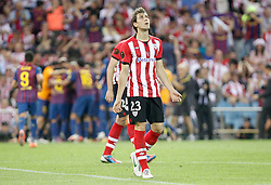 25.05.2012, Vicente Calderon Stadion, Madrid, ESP, Kings Cup Finale, FC Barcelona vs Athletic Bilbao, im Bild Athletic de Bilbao's Borja Ekiza dejected // during the Spanish Kings Cup final match between Fc Barcelona and Athletic Bilbao at the Vicente Calderon Stadium, Madrid, Spain on 2012/05/25. EXPA Pictures © 2012, PhotoCredit: EXPA/ Alterphotos/ Alvaro Hernandez..***** ATTENTION - OUT OF ESP and SUI *****