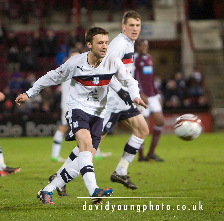 Dundee's Kevin McBride  - Hearts v Dundee in the Clydesdale Bank, Scottish Premier League at Tynecastle.. - © David Young - www.davidyoungphoto.co.uk - email: davidyoungphoto@gmail.com