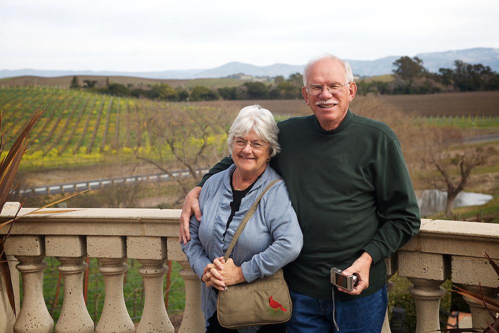 Mom & Dad at Domaine Carneros in Sonoma