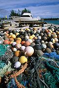 Trash, nets Midway Island, Papahanaumokuakea Marine National Monument,  Northwest Hawaiian Islands