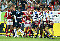 ◊Copyright:<br />GEPA pictures<br />◊Photographer:<br />Mathias Kniepeiss<br />◊Name:<br />Ehmann<br />◊Rubric:<br />Sport<br />◊Type:<br />Fussball<br />◊Event:<br />T-Mobile Bundesliga, GAK Graz vs SK Sturm Graz<br />◊Site:<br />Graz/Austria<br />◊Date:<br />06/08/04<br />◊Description:<br />Anton Ehmann (GAK), Radovan Radakovic (Sturm), Martin Amerhauser (GAK), Juergen Saumel (Sturm)<br />◊Archive:<br />DCSKP-0608047011<br />◊RegDate:<br />07.08.2004<br />◊Note:<br />9 MB - MP/KP