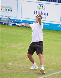 LIVERPOOL, ENGLAND - Thursday, June 18, 2015: Pablo Andujar (ESP) during Day 2 of the Liverpool Hope University International Tennis Tournament at Liverpool Cricket Club. (Pic by David Rawcliffe/Propaganda)