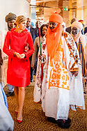2-11-2017 ABUJA NIGERIA  Ontmoeting met de Mallam Muhammad Sanusi Emir van de deelstaat Kano Koningin Maxima  speech tijdens bezoek aan EFInA (Enhancing Financial Innovation &amp; Access) evenement &lsquo;The Role of Government in driving Financial Inclusion in  Nigeria&rsquo;. Begroeting door mevrouw L. Quaynor, general manager EFInA, mevrouw Ladipo, voorzitter RvB EFInA, de heer Akerele voorzitter RvB EFInA. Koningin Maxima bezoekt in haar hoedanigheid van speciale pleitbezorger van de secretaris-generaal van de Verenigde Naties voor inclusieve financiering voor ontwikkeling (inclusive finance for development) de Federale Republiek Nigeria van maandag 30 oktober tot en met donderdag 2 november 2017.  Copyright Robin Utrecht <br /> <br /> 2-11-2017 ABUJA NIGERIA Ontmoeting met de Mallam Muhammad Sanusi Emir van de deelstaat Kano  Queen Maxima speech during a visit to EFInA (Enhancing Financial Innovation &amp; Access) event &quot;The Role of Government in Driving Financial Inclusion in Nigeria&quot;. Greetings by Mrs L. Quaynor, General Manager EFInA, Ms Ladipo, Chairman of the Supervisory Board EFInA, Mr Akerele President RVV EFInA. Queen Maxima, in her capacity as Queen maxima visits Nigeria as United Nation secretary Generals special advocate for inclusive Finance for developments., visits the Federal Republic of Nigeria from Monday 30 October to Thursday, November 2, 2017. Copyright Robin Utrecht