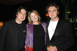 Left to right, MR MARTIN & the HON.LAURA LEVI and her son SONNY MALLET at a dinner to promote the Holders Season in Barbados held at The Four Seasons Hotel, Hamilton Place, London W1 on 30th January 2008.<br />