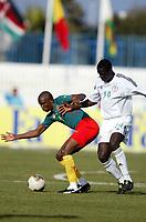 Fotball<br /> African Nations Cup<br /> Foto: Digitalsport<br /> Norway Only<br /> <br /> 1/4 FINAL - 040208<br /> NIGERIA v KAMERUN<br /> <br /> SAMUEL ETO'O (CAM) / SEYI OLOFINJANA (NIG) <br /> <br />  *** Local Caption *** 40001040