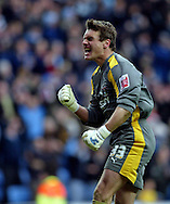 Coventry - Saturday, March 8th, 2008: Andy Marshall of Coventry City celebrates his side's opening goal (1-0) during the Coca Cola Championship match at the Ricoh Arena, Coventry. (Pic by Paul Hollands/Focus Images)