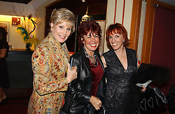 Left to right, ANGELA RIPPON, RUBY WAX and ESTHER RANTZEN at the return of Dralion to celebrate the Cirque Du Soleil's 20th Anniversary at the Royal Albert Hall, London on 6th January 2005.<br /><br />NON EXCLUSIVE - WORLD RIGHTS