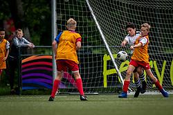 Jaden #6 of VV Maarssen  in action. VV Maarssen O14-1 played a friendly game against CDW O15-2. Maarssen won 9-2 on July 11, 2020 at Daalseweide sports park Maarssen.