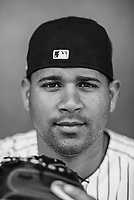 NY Yankees Gary Sanchez  poses for a portrait  on March 2018.<br /> (Photo/Tom DiPace)