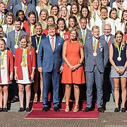 NLD/Den Haag/20160824 - Huldiging sporters Rio 2016, Willem - Alexander en Maxima