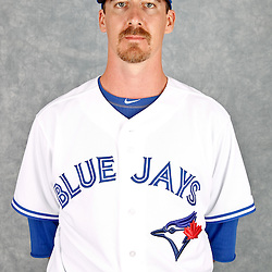 March 2, 2012; Dunedin, FL, USA; Toronto Blue Jays starting pitcher Scott Richmond (77) poses for a portrait during photo day at Florida Auto Exchange Stadium.  Mandatory Credit: Derick E. Hingle-US PRESSWIRE