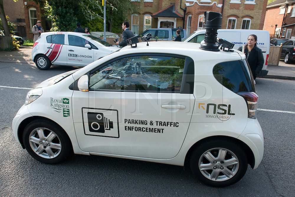 © Licensed to London News Pictures. 23/04/2014. New Malden, UK CCTV cameras that automatically issue parking fines are to be made illegal in a victory for motorists and privacy campaigners, ministers will announce today 21 June 2014.  . Photo credit : Stephen Simpson/LNP