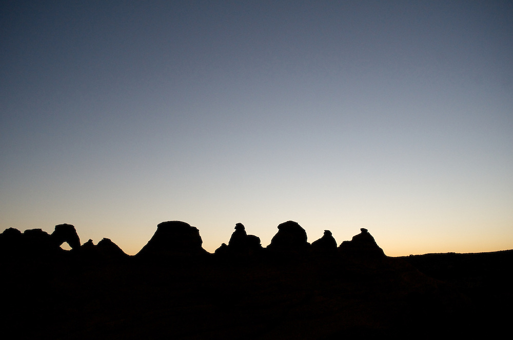 Sunrise hike at Arches National Park