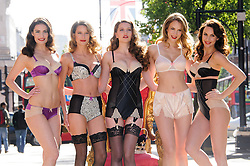 M&S Jubilee Lingerie Collection. Models pose in the retailer's new lingerie line in honour of the Queen's jubilee year. Marks & Spencer, London, Wednesday May 16, 2012. Photo By Chris Joseph/i-Images