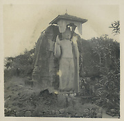 The Aukana Buddha statue.<br /> Aukana Buddha taken I think in '47 on the SJC trip to ruined cities.<br /> <br /> from the Tony Peries Collection.