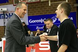 Ivan Sunara in Dejan Mlakar, zmagovalec Planetovega Basket master tekmovanja na Dnevu slovenske moske kosarke, 26. decembra 2008, na Planini, Kranj, Slovenija. (Photo by Vid Ponikvar / Sportida)