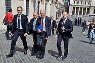 Roma 29 Aprile 2013.Il ministro della Coesione Territoriale Carlo Trigilia entra alla Camera dei Deputati dove si voto la fiducia al Governo Letta