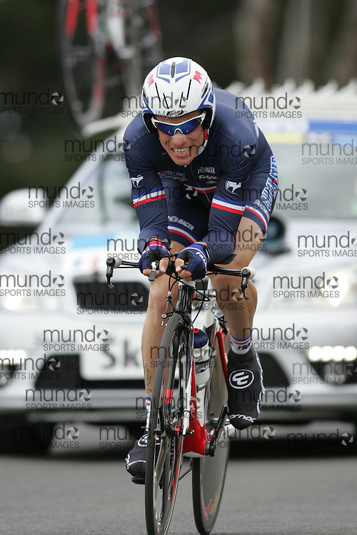 (Geelong, Australia---30 September 2010) Sylvain CHAVANEL of France racing in the Elite Men's Time Trial race at the 2010 UCI Road World Championships [2010 Copyright Sean Burges / Mundo Sport Images -- www.mundosportimages.com]