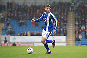Chesterfield's Jay O'Shea (26) during the EFL Sky Bet League 1 match between Chesterfield and Scunthorpe United at the b2net stadium, Chesterfield, England on 22 October 2016. Photo by Richard Holmes.