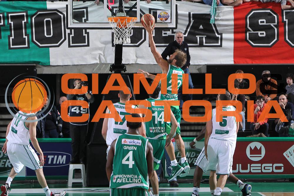 DESCRIZIONE : Treviso Lega A 2011-12 Benetton Treviso Sidigas Avellino<br /> GIOCATORE : Mattia Soloperto<br /> SQUADRA : Benetton Treviso Sidigas Avellino<br /> EVENTO : Campionato Lega A 2011-2012 <br /> GARA : Benetton Treviso Sidigas Avellino<br /> DATA : 04/02/2012<br /> CATEGORIA : Tiro<br /> SPORT : Pallacanestro <br /> AUTORE : Agenzia Ciamillo-Castoria/G.Contessa<br /> Galleria : Lega Basket A 2011-2012 <br /> Fotonotizia : Treviso Lega A 2011-12 Benetton Treviso Sidigas Avellino<br /> Predfinita :