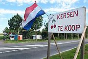Nederland, Oosterhout, 30-6-2012In een boomgaard, kersenboomgaard, worden kersen verkocht. Foto: Flip Franssen/Hollandse Hoogte