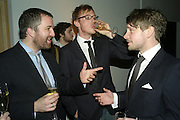 NEIL SUMNER, BEN COTTON AND DAN CHAPMAN, Wallpaper Design Awards. Old Post Sorting Office. New Oxford St. London. 9 January 2008. -DO NOT ARCHIVE-© Copyright Photograph by Dafydd Jones. 248 Clapham Rd. London SW9 0PZ. Tel 0207 820 0771. www.dafjones.com.