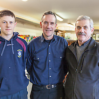 Maloney Garden Machinery employees Glen Murray and Eddie McAleer with owner Frances Moloney at Maloney Garden Machinery Ltd, Shannon