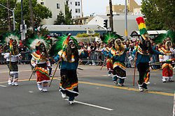 California: San Francisco Carnaval festival parade in the Mission District. Photo copyright Lee Foster. Photo # 30-casanf81341
