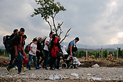 Gevgelija, Macedonia 2015. Refugee crisis at balkan route
