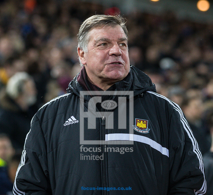 Sam Allardyce Manager of West Ham United looks on during the FA Cup match at the Boleyn Ground, London<br /> Picture by David Horn/Focus Images Ltd +44 7545 970036<br /> 13/01/2015