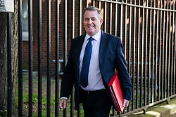 © Licensed to London News Pictures. 15/05/2018. London, UK. Secretary of State for International Trade Liam Fox leaves 10 Downing Street after the Cabinet meeting. Photo credit: Rob Pinney/LNP
