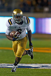 BERKELEY, CA - OCTOBER 06: Running back Jordon James #6 of the UCLA Bruins rushes upfield against the California Golden Bears during the first quarter at California Memorial Stadium on October 6, 2012 in Berkeley, California. The California Golden Bears defeated the UCLA Bruins 43-17. (Photo by Jason O. Watson/Getty Images) *** Local Caption *** Jordon James