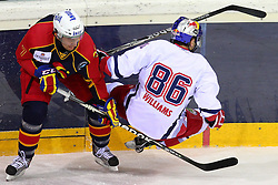 18.12.2011, Albert Schultz Halle, Wien, AUT, European Trophy, Finale, Jokerit vs EC Red Bull Salzburg, im Bild Antti Jussi Niemi, (Jokerit, #7) und Jeremy Williams, (EC Red Bull Salzburg, #86) , EXPA Pictures © 2011, PhotoCredit: EXPA/ T. Haumer