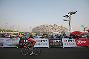 "Sammy Sanchez after crossing the finish line, EUS - #133 -1'57"" -- 2011 Tour of Beijing Stage 1 ITT"
