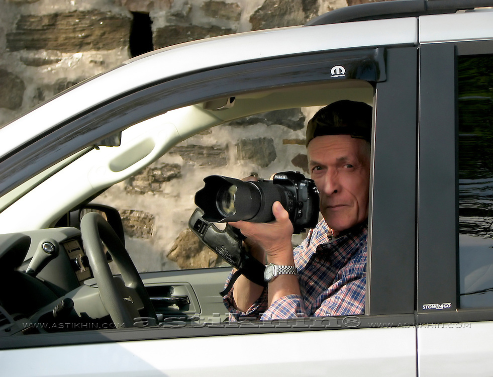 Shooting from car
