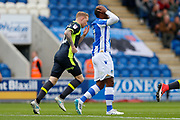 Colchester United's Kyel Reid(17) head in hands during the EFL Sky Bet League 2 match between Colchester United and Carlisle United at the Weston Homes Community Stadium, Colchester, England on 14 October 2017. Photo by Phil Chaplin