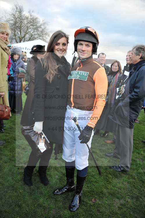 SAM & BELLA WALEY-COHEN at the 2012 Hennessy Gold Cup at Newbury Racecourse, Berkshire on 1st December 2012