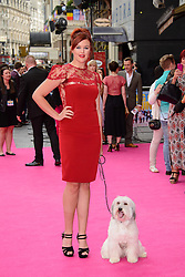 Image ©Licensed to i-Images Picture Agency. 11/06/2014. London, United Kingdom.Ashleigh Butler attends Walking On Sunshine UK Premiere. Vue Leicester square. Picture by Chris Joseph / i-Images